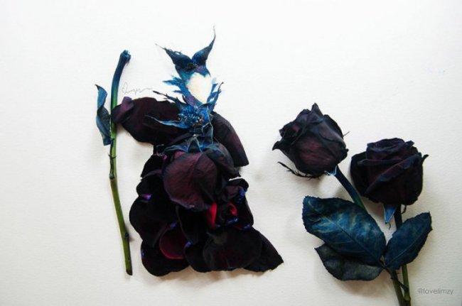 Фантастическое искусство из цветов от Лимзи